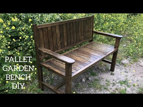 Paletten Bank Yapımı / Making Bench From Pallets / Banco De Palets / Outdoor Sofa Diy / Garden Bench