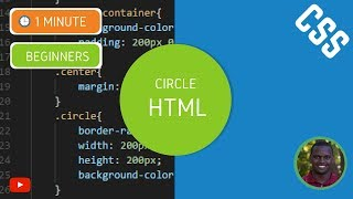 How to Make a Circle in HTML and CSS - CSS Tutorial