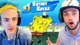 Spongebob Gets A Victory Royale In Fortnite