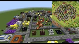 IT'S FINISHED! Clash Of Clans & Minecraft! Let's Build My Base! Completed