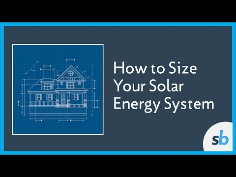 How to Size Your Solar Energy System