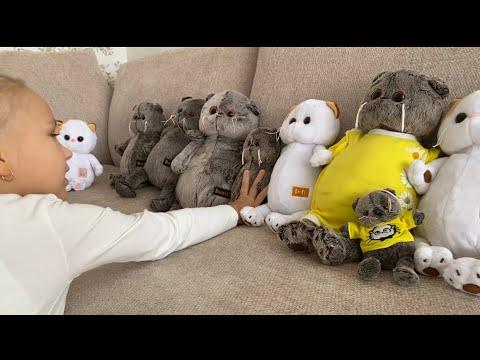 Алиса показывает БАСИКОВ ! Большая коллекция игрушек