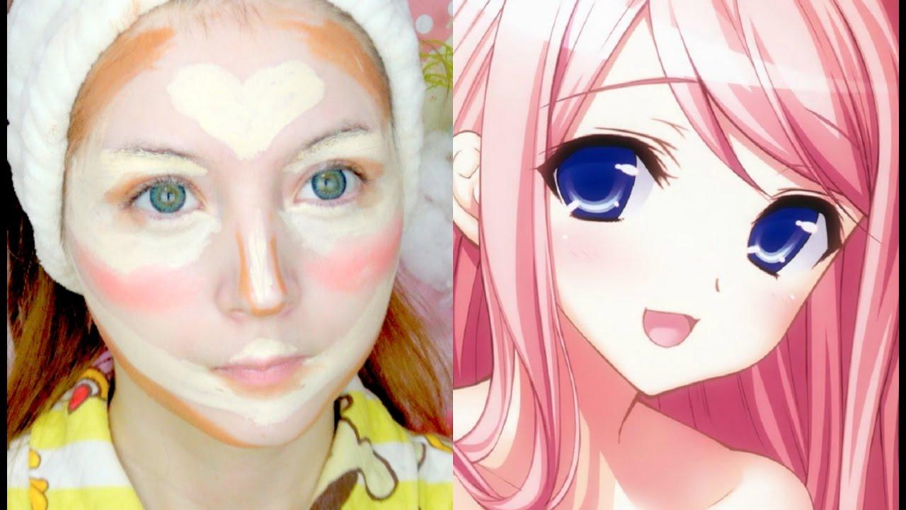 Anime face contouring youtube - Visage manga fille ...