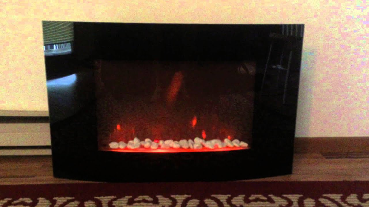 glass fireplace space heater no actual fire youtube