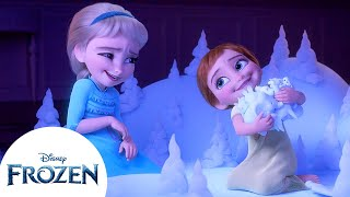 Baby Anna And Elsa Learn About The Enchanted Forest | Frozen