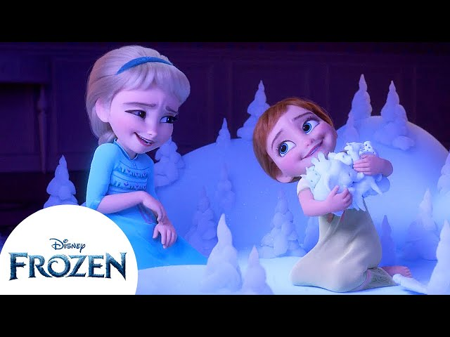 Baby Anna and Elsa Learn About the Enchanted Forest   Frozen