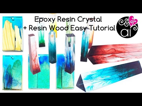 How to Make Resin Crystals | Tutorial Simple Resin Wood Pendants