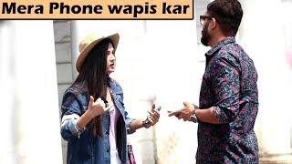 Cute Girl Stealing Phone Prank   Unglibaaz