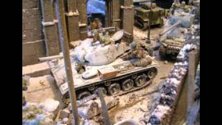 Military Miniatures - Battle of Bulge Video, Ardennes, WWII, Bastogne, Toy Soldier Diorama