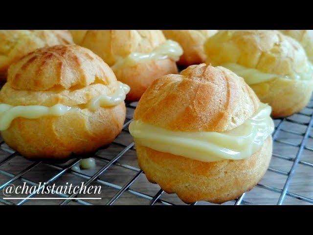 RESEP KUE SUS VLA VANILA TANPA MIXER  Choux Pastry - YouTube