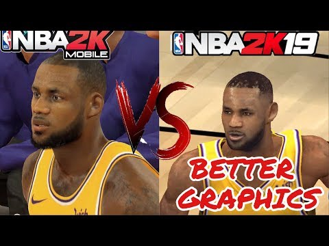 NBA 2K MOBILE Vs NBA 2K19 MOBILE(Graphics Versus Gameplay)