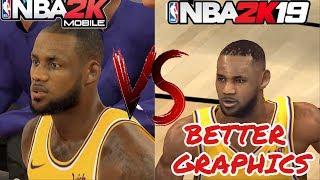 NBA 2K MOBILE Vs NBA 2K19 MOBILE(Graphics versus Gameplay)