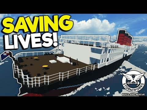 SAVING PEOPLE FROM A HUGE SINKING SHIP! - Stormworks: Build And Rescue Gameplay - Ship Survival