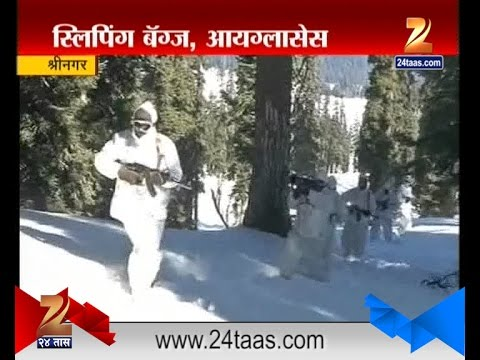 Srinagar Indian Army Patrolling In Snow