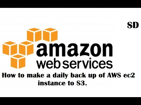 Backup an Amazon Web Services AWS EC2 instance to S3