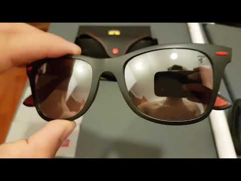 28a13acf1997a Unboxing Ray Ban ferrari - YouTube