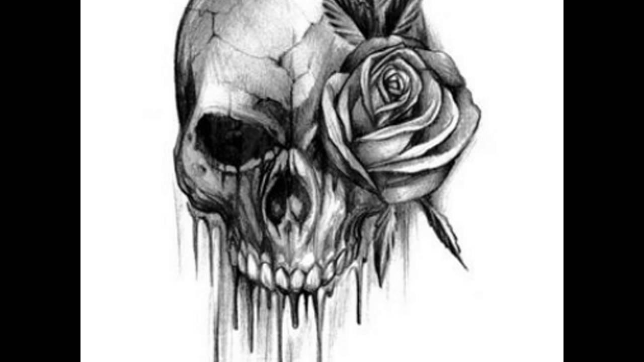 Skull tattoo designs and ideas - YouTube