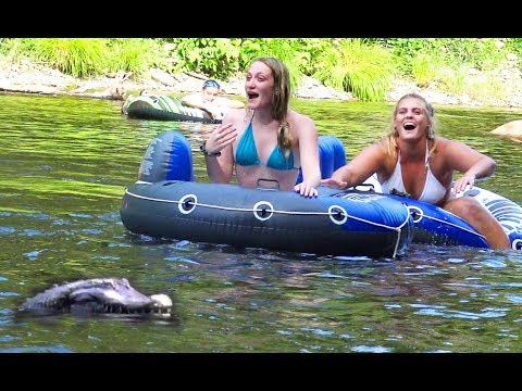 Remote Control Alligator Prank Scares People On The River