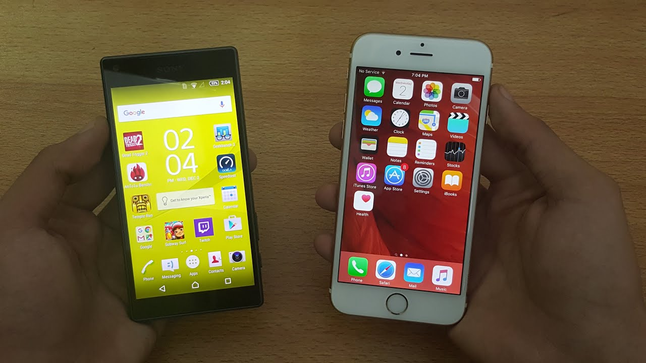 Iphone 6s Vs Sony Xperia Z5 Compact