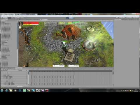 Unity3D Moba/RTS/RPG первая демка [demo#1]