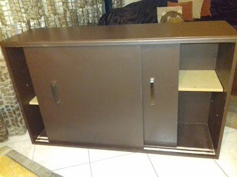 How to build a cabinet with sliding door