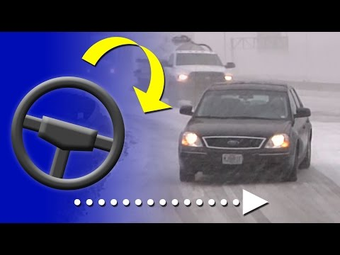 Thumbnail: How to correct a slide on an icy road (and how to prevent them) - Winter driving education