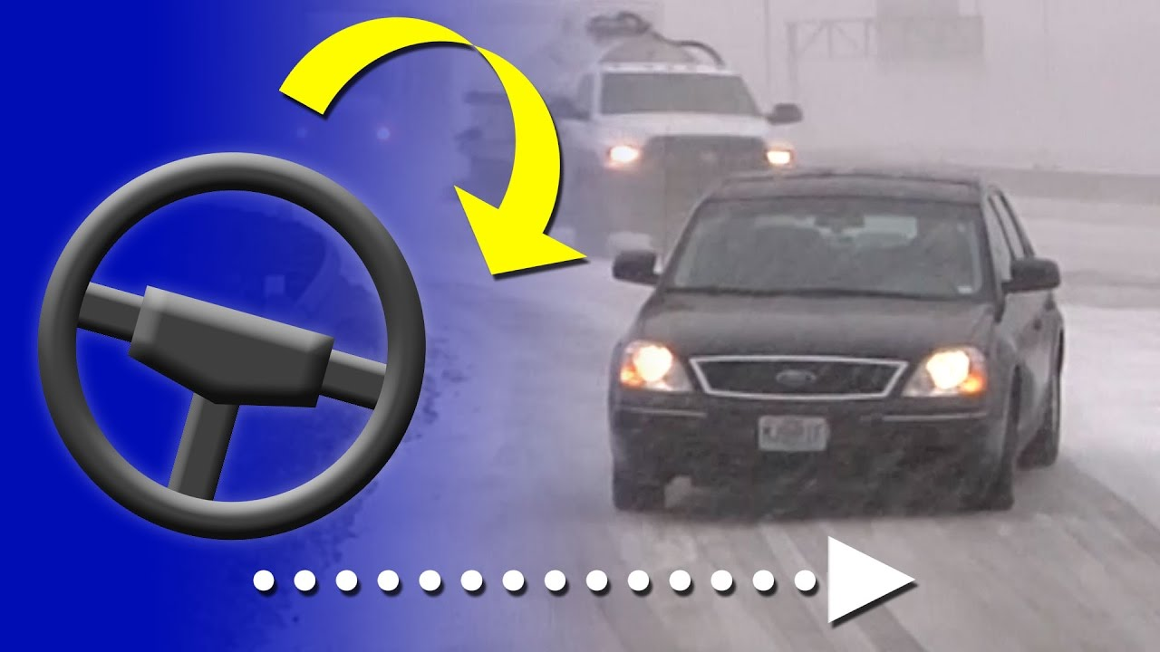 how to correct a slide on an icy road and how to prevent them