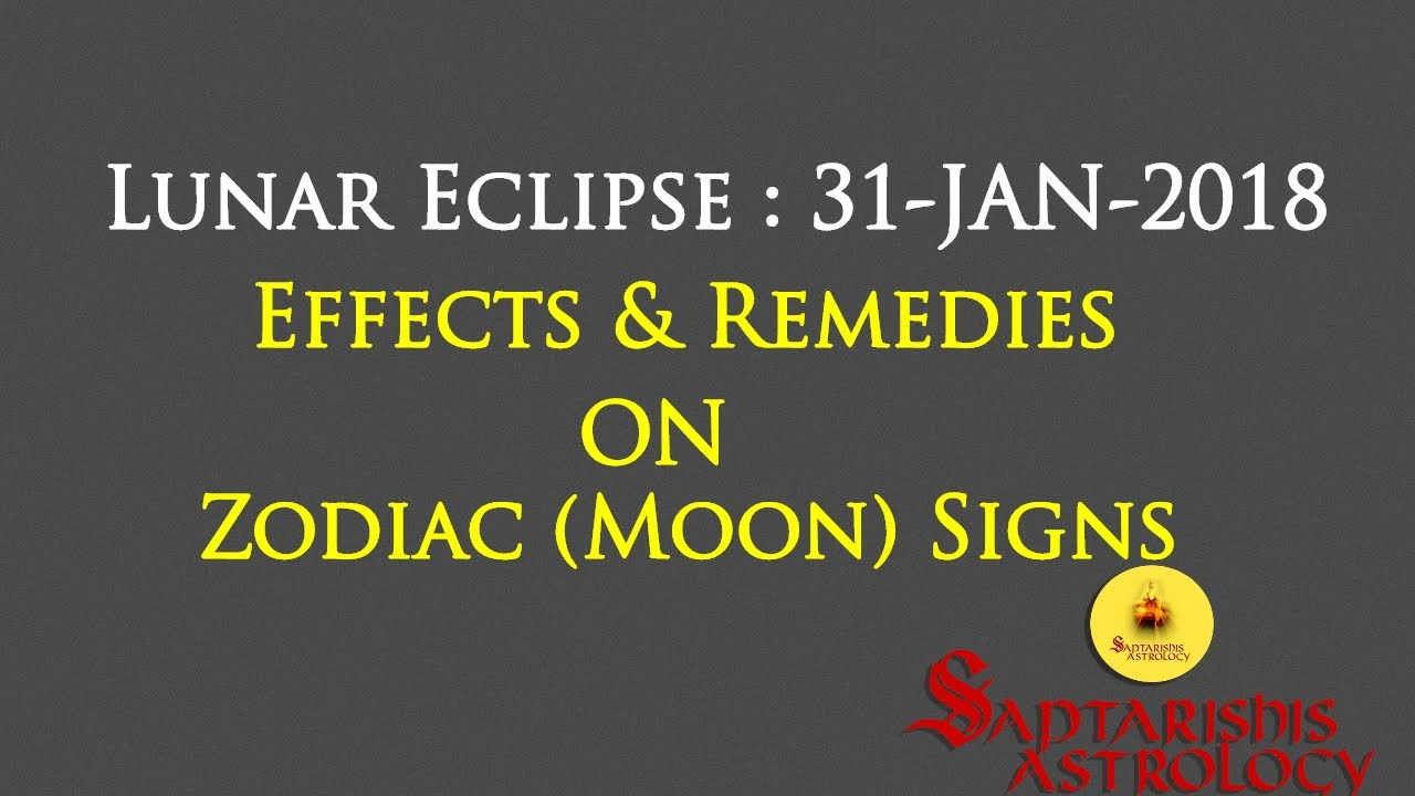Effects Of Lunar Eclipse On Zodiac signs & Remedy: 31 Jan -2018