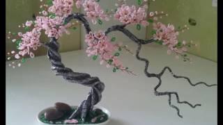 Дерево сакуры из бисера