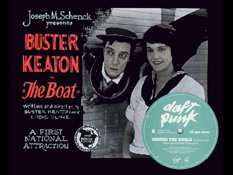 """Buster Keaton's """"The Boat"""" (1921) ✄ with """"Around the World"""" by Daft Punk"""