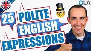 25 Polite English Expressions for Formal Situations 🎩
