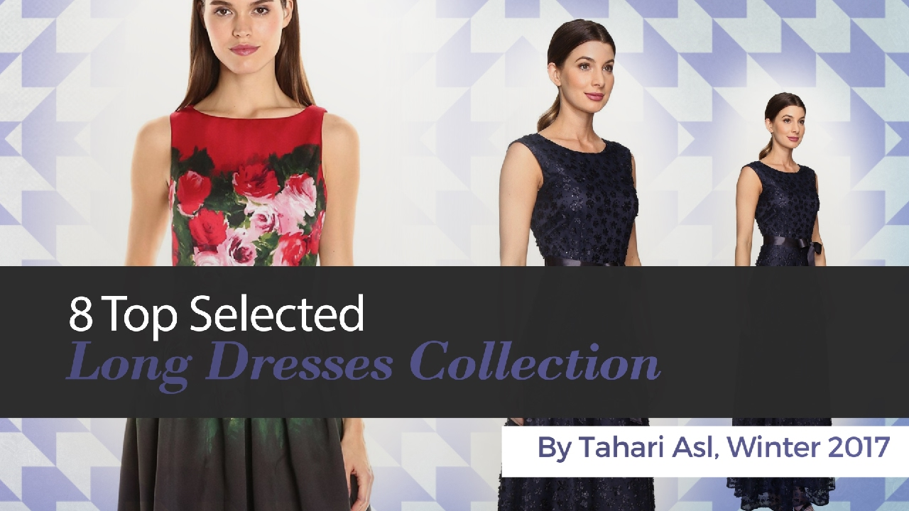 8 Top Selected Long Dresses Collection By Tahari Asl, Winter 2017 ...