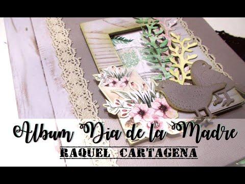 ALBUM MINTAY BY KAROLA Con Mercedes Piqueras La Libelula Scrap Diy TUTORIAL colaboracion scrapbookin