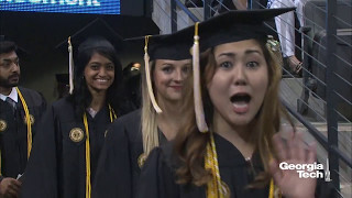 Georgia Tech Spring 2017 Commencement Bachelor Ceremony, Morning
