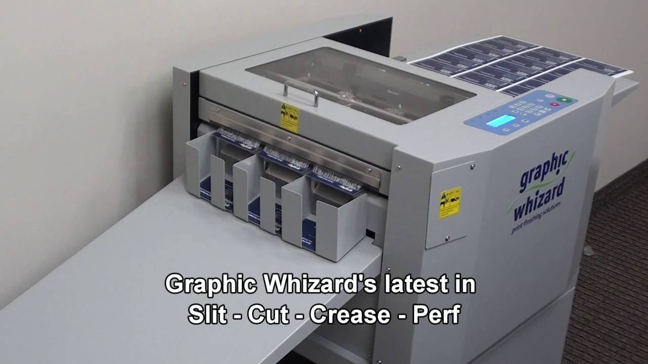 Graphic Whizard 331scc Slitter Cutter Creaser Perforator Youtube