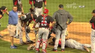 Aroldis Chapman Hit In Face With A Line Drive (Full Video)