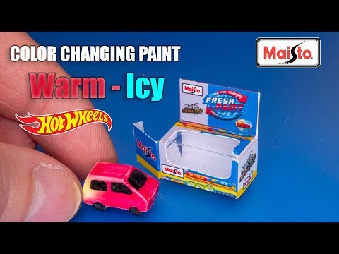 DIY How to make mini Color Changing Fresh Paint Car Barbie Dollhouse CRAFTS and HACKS