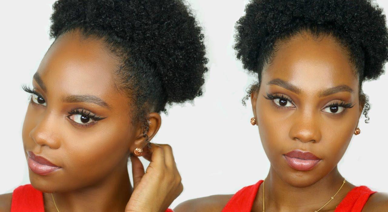high puff tutorial natural hair