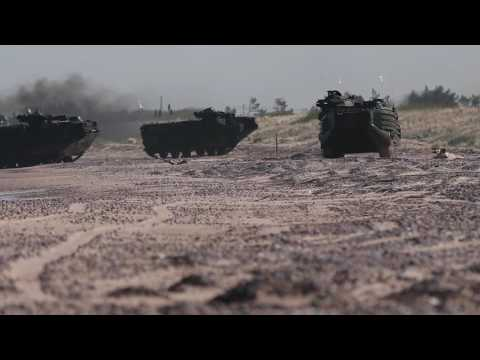 US Marines storm beach in Latvia