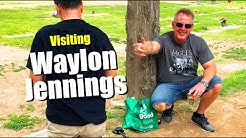 FAMOUS GRAVE - Visiting Country Music Legend Waylon Jennings At City Of Mesa Cemetery In Arizona