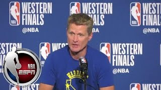 Steve Kerr calls Chris Paul's injury 'a shame' | NBA on ESPN