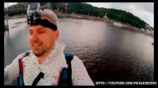 Путевые Заметки.Киев,июнь 2014: экстремальные полеты над Днепром с двумя GoPro