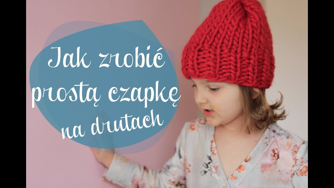 Jak zrobić prostą czapke na drutach  oulala pl i   -> Kuchnia Dla Dzieci Jak Zrobić