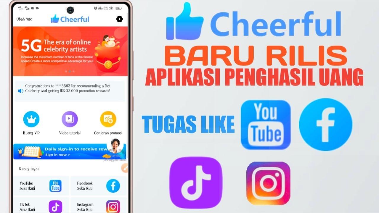 Download CHEERFUL ¦¦ BARU RILIS APLIKASI PENGHASIL UANG TUGAS LIKE YOUTUBE PER LIKE DIBAYAR 3.600 GRATIS