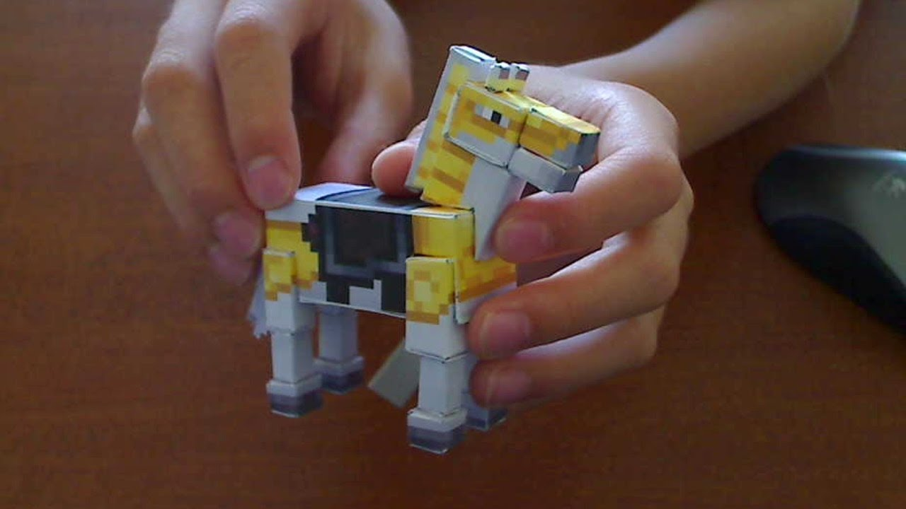 How To Make A Minecraft Papercraft Horse Youtube