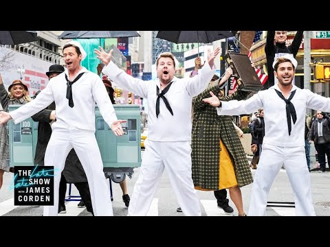 Crosswalk the Musical on Broadway w Hugh Jackman, Zendaya & Zac Efron