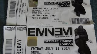 Zolt Shady at Eminem concert in Belgium and London