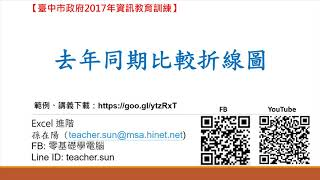 18.如何使用Excel做比較分析-去年同期比較折線圖(Excel 進階)