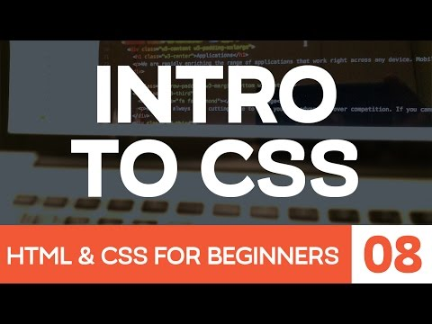 HTML & CSS For Beginner Part 8: Introduction To CSS