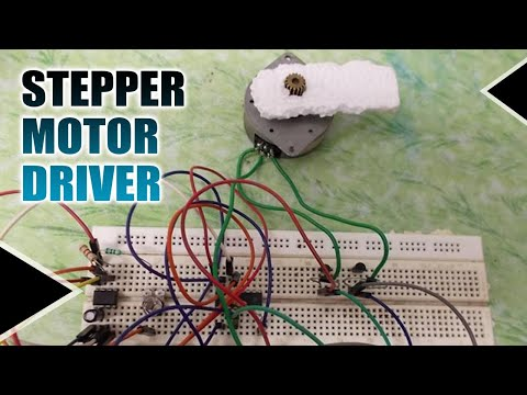 Simple Stepper Motor Driver Circuit Diagram using 555 Timer IC